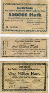Notgeld-Scheine aus Lembeck