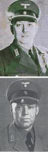 NSDAP-Ortsgruppenleiter Fritz Köster (oben) und Ernst Heine