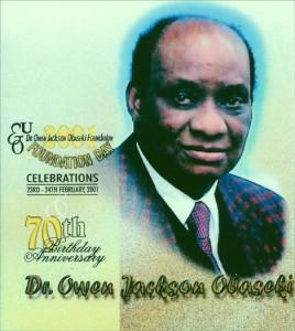 Ehren-Schallplatte für Dr. Obaseki