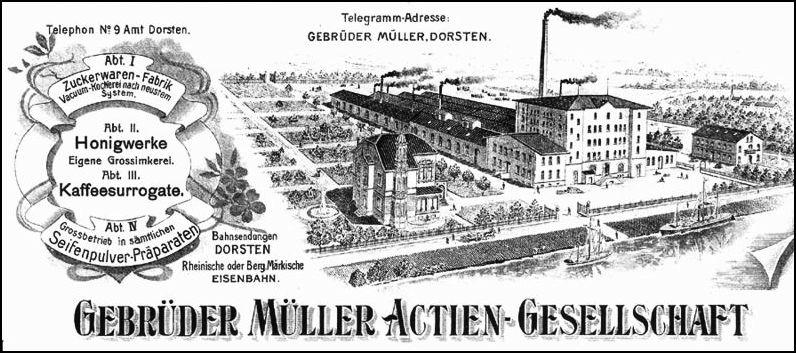 Briefkopf der Firme mit Oelmühle und Villa