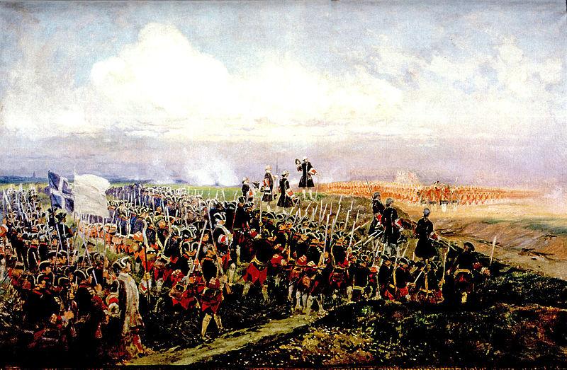 Die Schlacht von Fontenoy, Gemälde von Edouard Detaille