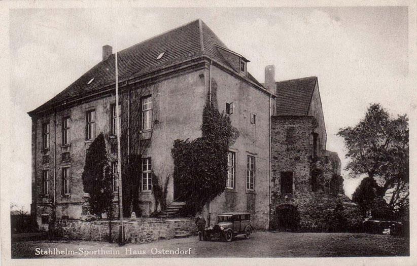 """""""Stahlhelm"""" Sportheim in Haus Ostendorf um 1930"""