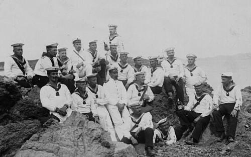 Deutsche Seesoldaten in Tsingtau