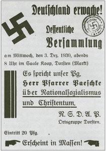 NSDAP-Handzettel 1930