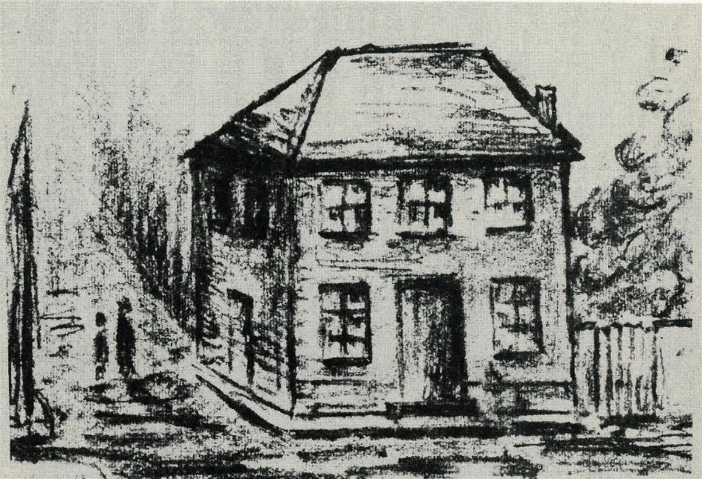 """Pesthaus in Dorsten; entn. Paul Fiege """"Dorsten in alten Bildern"""""""