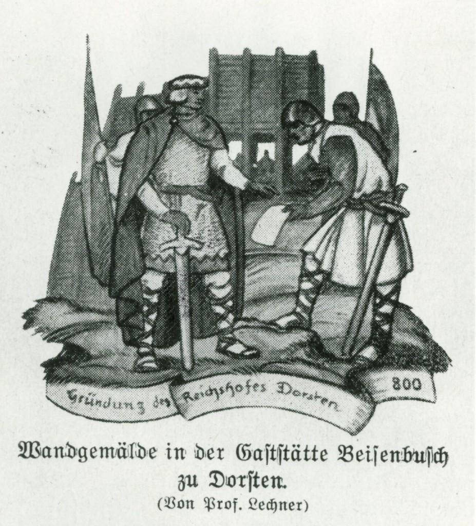 Wandgemälde erinnerte an den Reichshof