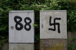 """88 ist das Zeichen der Rechtsradikalen für """"Heil Hitler"""""""