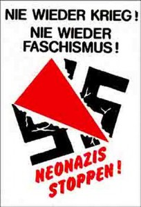 Plakat gegen Rechtsradikalismus