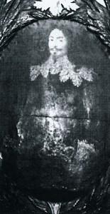 Lehne des Richterstuhls mit dem Bildnis des Bernhard von Westerholt zu Lembeck