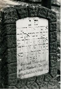 Grabstein Samuel Rosenheims