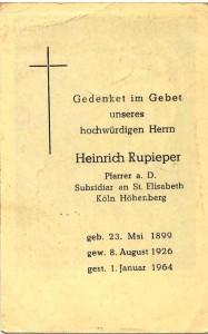 Totenzettel von 1964