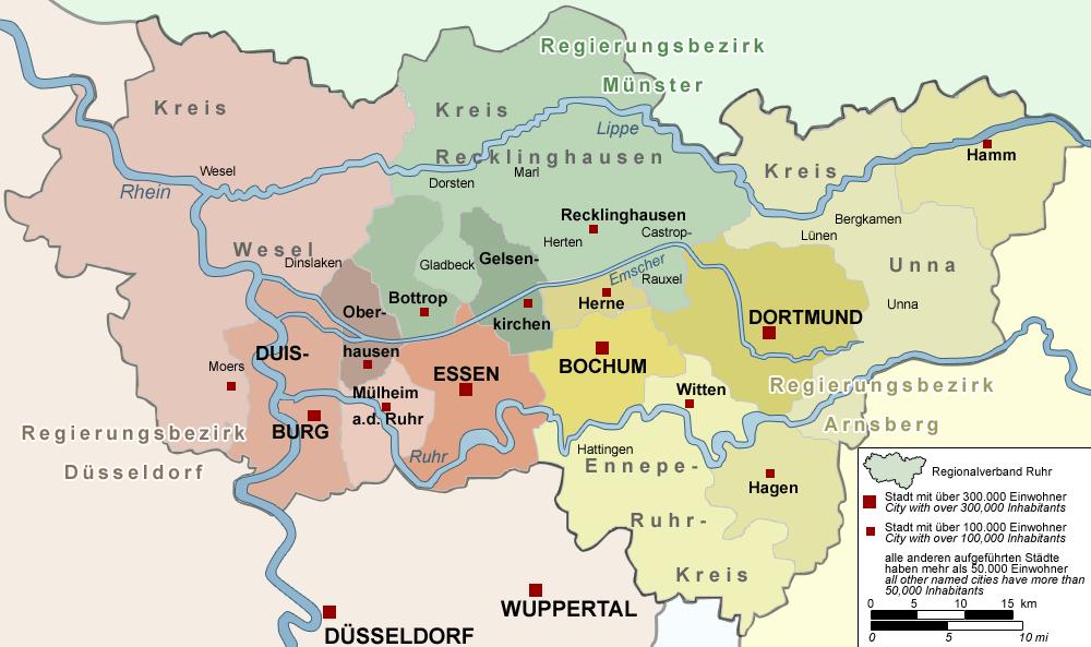 RVR-Gebiet von Wesel bis Arnsberg