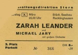 Eintrittskarte 1949