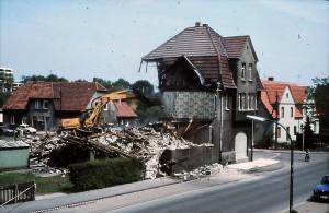 Abbruch der Häuser an der Freiheitsstraße