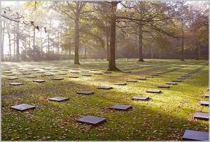 Beerdigungsfeld mit Schlüters Grab in Vladslo