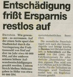 Ruhr Nachrichten vom 22. Oktober 1994