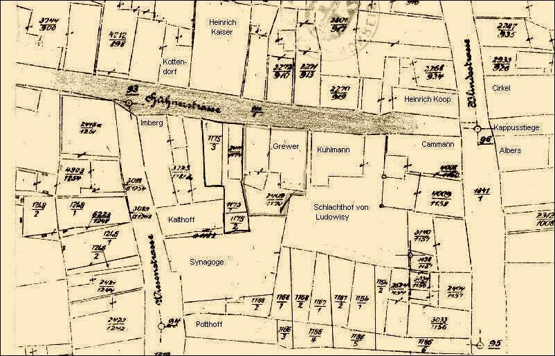 Stadtplan mit Schlachthof