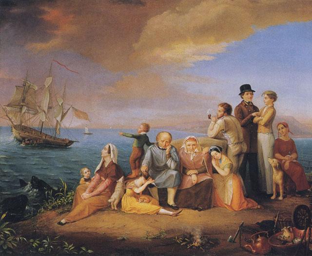 Auswanderer, Gemälde