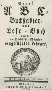 Schulbuch von 1788 im Hochstift Münster