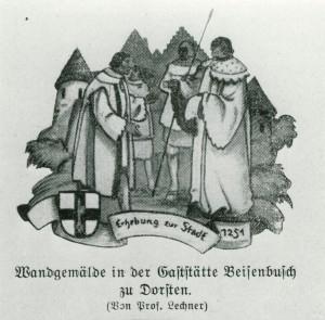 Stadtrechre 1251, früheres Wandgemälde