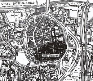 Ursprung der Stadt, die Insel Dorsten