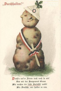 Zeitgenössische Steckrüben-Postkarte