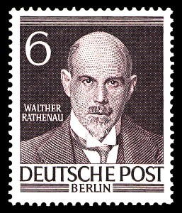 Walther Rathenau-Briefmarke 1952