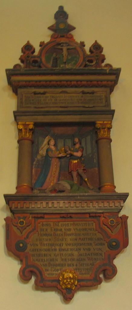 Pahlen-Epitaph in der Agathakirche