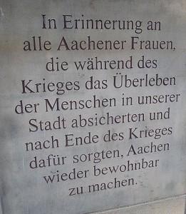 Denkmal in Aachen (2008)