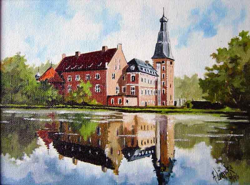 Schloss Raesfeld (Aquarell)