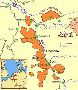 Das Vest an der Grenze zum Rheinland