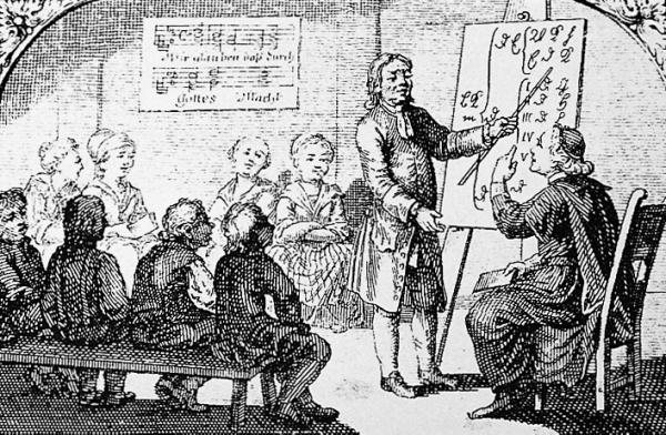 Visitation des Pfarrers in der Volksschule