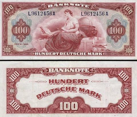 Dem US-Dollar nachempfunden: Der neue HUnderte 1948