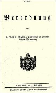 Preußische Wahlverordnung 1848