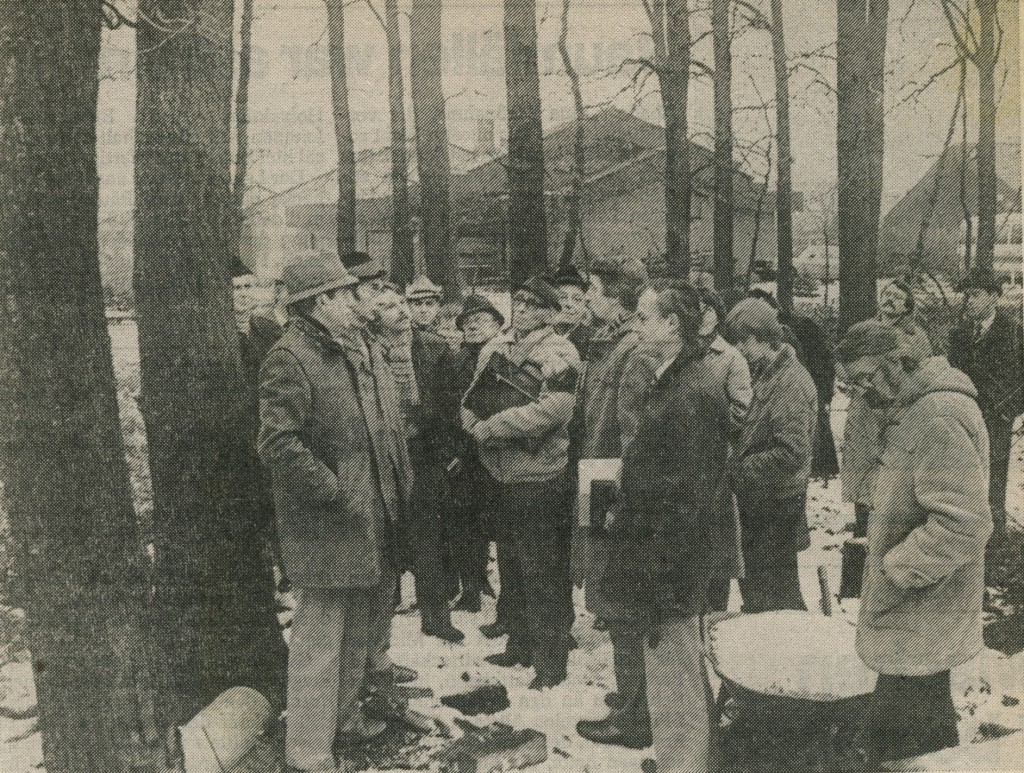 Ortstermin der Politiker in Altendorf (Zeitungsbild)