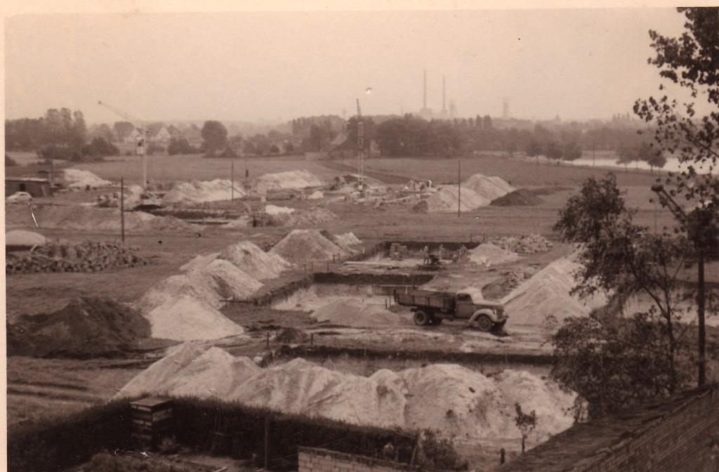 Bau der Waldsiedlung in Holsterhausen 1953