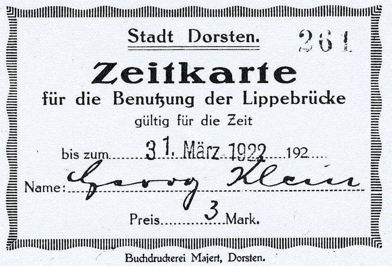Brückengeld 1922