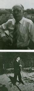 Gerard Weijers; oben: 1983, unten als Zwangsarbeiter1944