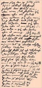 Handschrift Peter de Weldiges 1633