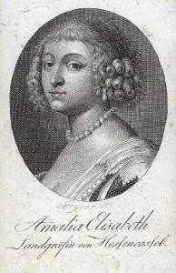 Landgräfin von Hessen-Kassel; Stahlstich von Ch. G. Geyser