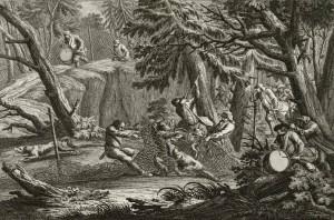 Jagd mit dem Netz, 18. Jahrhundert