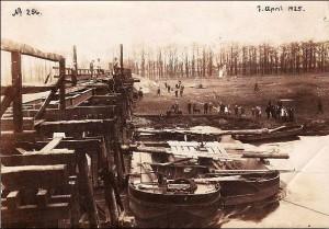 Bau der Kanalbrücke 1925