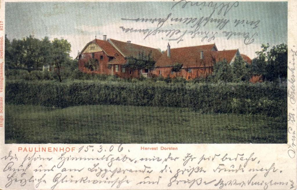 Paulinenhof in Hervest-Dorsten, zeitweiliger Wohnsitz von Fritz Tornow