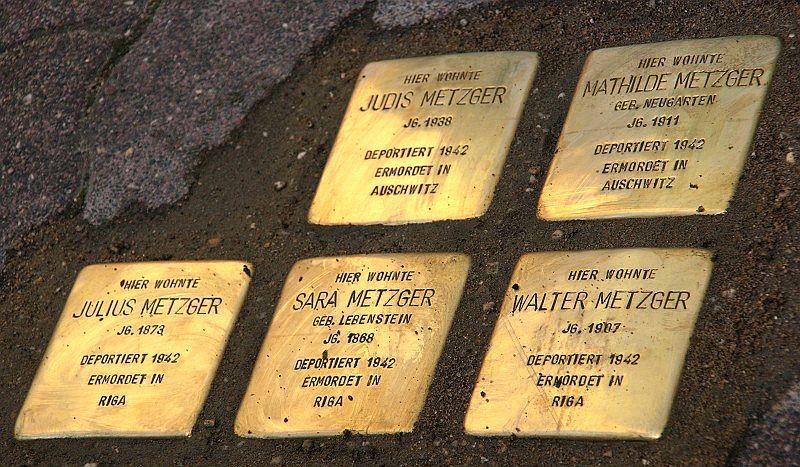 ERinnerung an die Familie Metzger