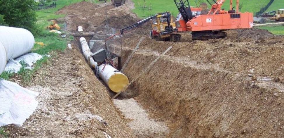 Verlegung einer Wasserleitung