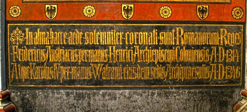 Krönungsfresko Erzbischof Heinrich II. von Virneberg im Bonner Münster