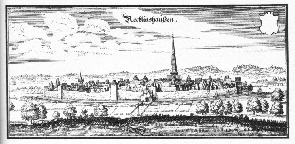 In Recklinghausen tagte der Vestische Landtag; Stich von M. Merian