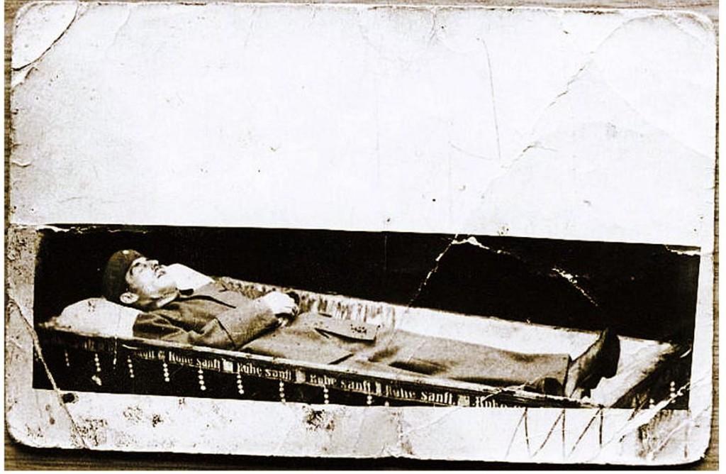 Aufbahrter Leichnam Zduneks 1919