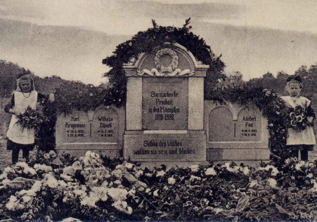Verschollenes Spartakistendenkmal mit dem Namen Zdunek
