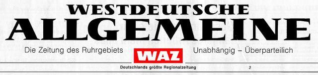 Zeitungskopf WAZ